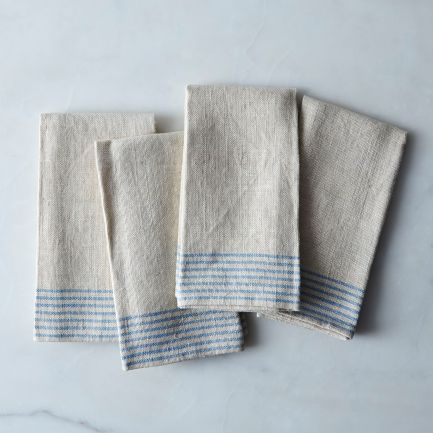Agrarian Striped Linen Napkins Set of 4 $85