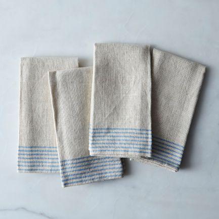 Agrarian Striped Linen Napkins Set of 4 $85
