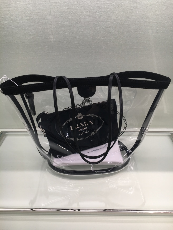 Prada Small Plex Shopper in Black