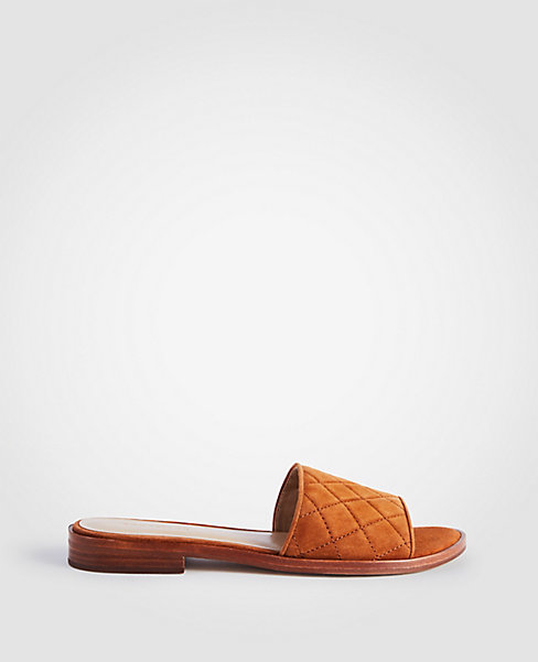 Ann Taylor Quilted Suede Slide
