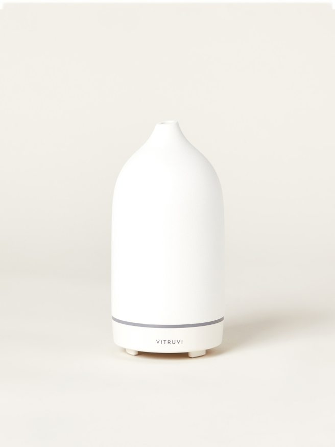 Vitruvi White Stone Essential Oil Diffuser